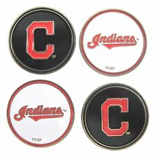 Cleveland Indians MLB Golf Ball Markers (Set of 4) Double Sided
