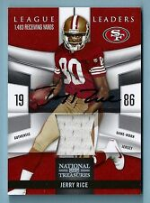 JERRY RICE 2009 NATIONAL TREASURES LEAGUE LEADERS JERSEY AUTOGRAPH AUTO /15