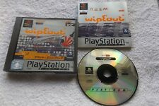 WIPEOUT PS1 PAL PLATINUM V.G.C. FAST POST ( futuristic racing game & complete )