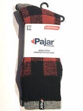 Pajar black red plaid wool socks fits women size 9-11