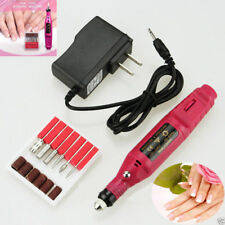 Nail Electric Art Drill File Machine Manicure Set Grinding Polishing Tool+Bits K