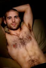 Shirtless Male Beefcake Handsome Hairy Pits Chest Bearded Stud PHOTO 4X6 D532