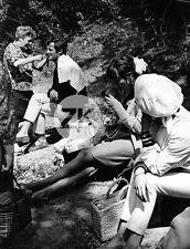 BELMONDO Pierrot le fou Anna KARINA Tournage Maquillage J-L. GODARD Photo 1965