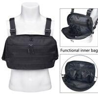 Chest Rig Bags Tactical Harness Chest Vest Travel Crossbody Shoulder Bag Men