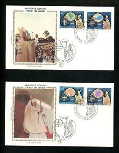 Postal History Vatican City FDC #845-849 SET of 3 1989 Pope John Paul II Travels