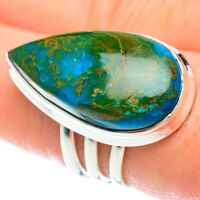 Large Chrysocolla 925 Sterling Silver Ring Size 9 Ana Co Jewelry R53354