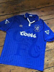 Chelsea Football Shirt. Umbro. Coors . Gullit. L/XL