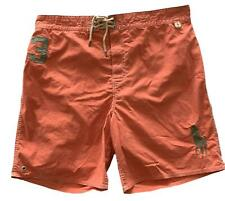 NEW, POLO RALPH LAUREN MEN'S ORANGE SWIM SHORTS, XXL, $75
