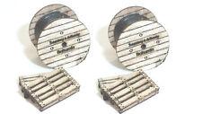TT Modelltec /IGRA 60 1200 17: Lasercutbausatz Kabeltrommeln und Paletten