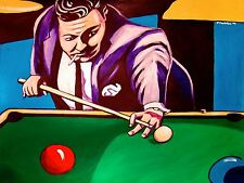 THE HUSTLER MOVIE PRINT POSTER minnesota fats pool cue billiards jackie gleason
