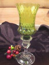 "Beautiful Home Interiors Homeco Votive Diamond Pattern Green 5"" Glass Cup"