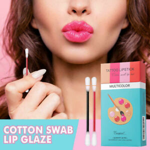 20pcs Cotton Swab Lipstick Women Long Lasting Lip Gloss Matte Tattoo Waterproof