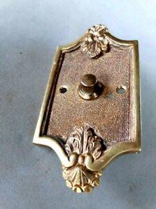 Antique Vintage Bronze Door Bell Push Button Original