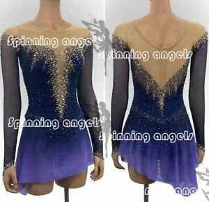 Ice Figure Skating Dress Custom Women Competition Skating Dress purple dyeing