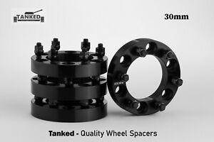 Wheel Spacers 4 x 30 mm 6 Stud Toyota Mitsubishi Ford etc 108 Centre Black