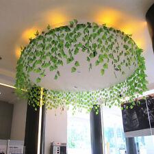 2.4m Artificial Fake String Leaves Ivy Vine Plants Hanging Garland Flower Decor