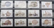 Nouveau!! série complète de timbres oblitérés 2018 - arts de la table