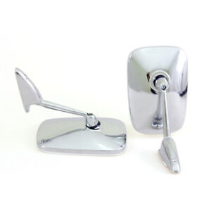Chrome Fender Mirror Set Fit Peugeot 104 202 203 204 304 402 403 404 504 Classic