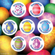 35 x Personalised Easter Eggs Hunt Stickers Party Thank You Seals Party Bag- 413