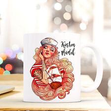 Tasse Becher Kaffeetasse Maritim mit Seemannsbraut und Spruch Küstenmädel ts444