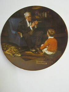 Edwin M. Knowles Norman Rockwell Decorative Plate The Tycoon W COA