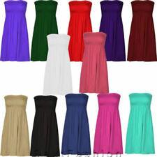 Viscose Mini Dresses for Women with Strapless/Bandeau
