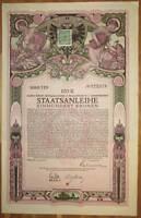 ÖSTERREICH AUSTRIA 8. Kriegsanleihe 100 Kronen 1918 Austrian War Loan