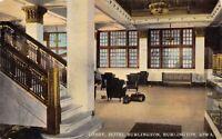 Postcard Lobby at Hotel Burlington in Burlington, Iowa~124810