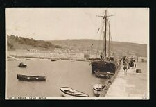 Dorset LYME REGIS The Harbour Boat Used 1943 PPC by J salmon