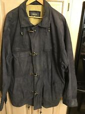 Bally Mens Italian Soft Leather Jacket Size 46 Dark Gray