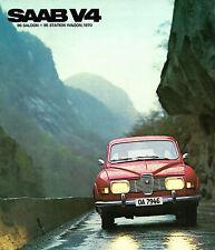 SAAB 96 & 95 V4 1969-70 UK Market sales brochure