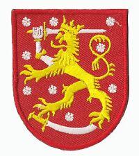 Ecusson patche armoirie Finlande patch Blason armes thermocollant brodé