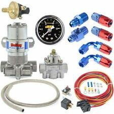 Holley 12-802-1K2 Blue Max Pressure Electric Fuel Pump Wiring & Plumbing Kit 110