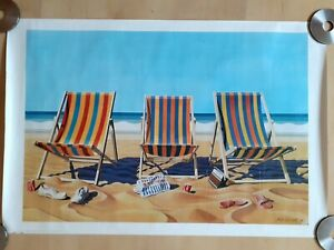 Athena Original - VINTAGE 'BEACH SCENE' POSTER FROM 1981