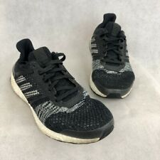 Adidas Mens UltraBoost ST Running Shoes Black CQ2144 Knit Lace Up Low Top US 7