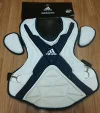 """Adidas Pro Series Catcher's Chest Protector 2.0 White/Navy Size 17"""" DH2540"""
