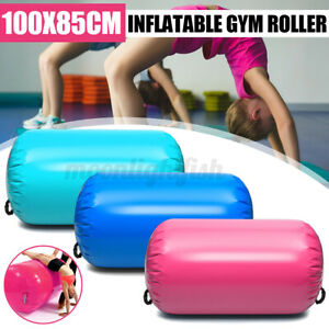100*85cm Inflatable Roller Gymnastics Cylinder Gym Home Yoga Exercise