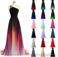 Formal Colorful Chiffon Bridesmaid Dresses Long Evening Wedding Party Prom Gowns