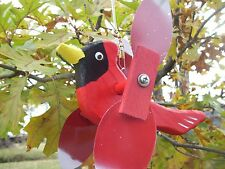 Cardinal Mini Whirligigs Whirligig Windmill Yard Art Hand made from wood