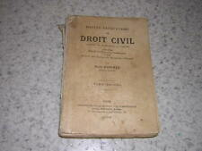 1904.droit civil / Foignet.T2 avec envoi autographe