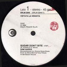 SAM HARRIS / FEELABELIA - Sugar Don't Bite / Feel It - Ricordi