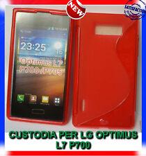 Pellicola+Custodia cover case WAVE ROSSA per LG Optimus L7 P700 (H9)