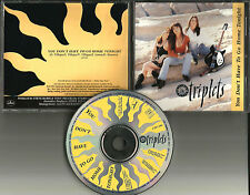 THE TRIPLETS You don't have to go PROMO DJ CD Single home tonight  1991 USA