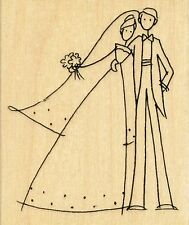 Happy Couple V126 Stampendous RUBBER STAMP - w/m  Free Shipping  NEW