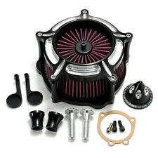 New CNC Air Cleaner Filtro Intake System For Harley Dyna Touring Softail Models