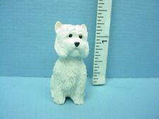 Dollhouse Miniature W. Highland Terrier Dog #A2962 Falcon 1/12th Scale Resin