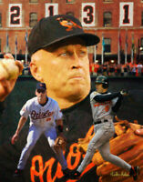 Cal Ripken Jr Baltimore Orioles 3rd Base MLB Baseball Art Print 2 11x14-48x36