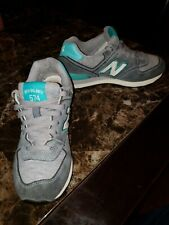 New Balance 574 Women Size 6.5 Grey And Blue