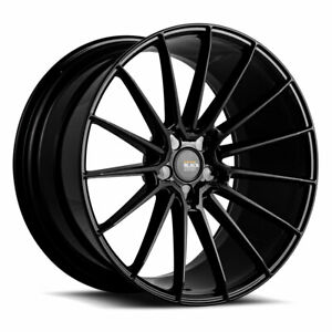 "19"" SAVINI BM16 BLACK CONCAVE WHEELS RIMS FITS BMW 528 530 535 545 550"