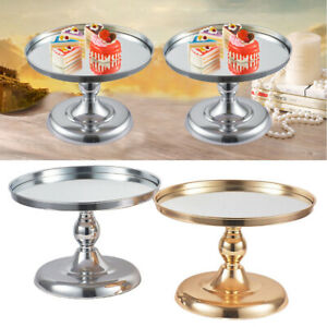 Round Metal Cake Stand Event Party Display Plate Tower, Wedding Birthday Party